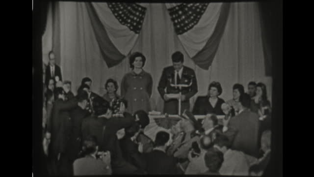 john kennedy presidential election acceptance speech - john f. kennedy us president stock videos & royalty-free footage
