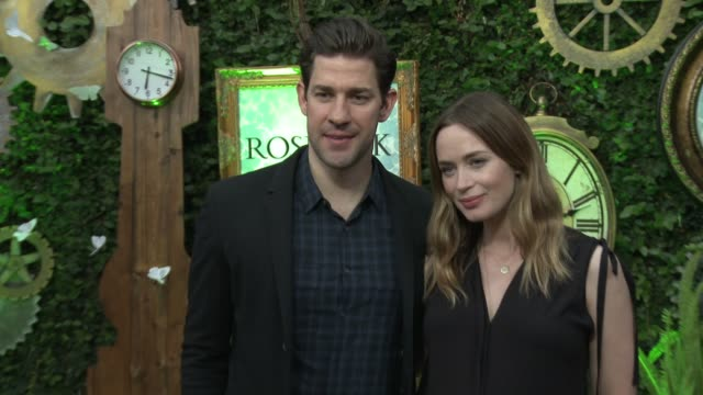 john krasinski and emily blunt at alice through the looking glass event at roseark at roseark gallery on may 12 2016 in los angeles california - john krasinski stock videos and b-roll footage