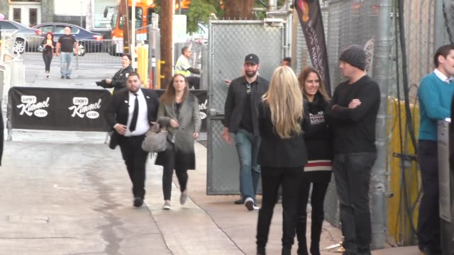 stockvideo's en b-roll-footage met john krasinski arrives to jimmy kimmel live in hollywood - celebrity sightings on december 15, 2015 in los angeles, california. - jimmy kimmel