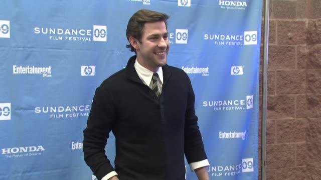 john krasinski at the 2009 sundance film festival 'brief interviews with hideous men' prem at park city ut - john krasinski video stock e b–roll