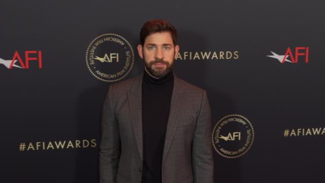 john krasinski at the afi awards 2018 at four seasons hotel los angeles at beverly hills on january 04 2019 in beverly hills california - john krasinski video stock e b–roll