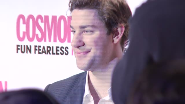 john krasinski at the cosmopolitan presents 2008 fun fearless male awards at cipriani 42nd street in new york new york on march 3 2008 - john krasinski stock videos and b-roll footage