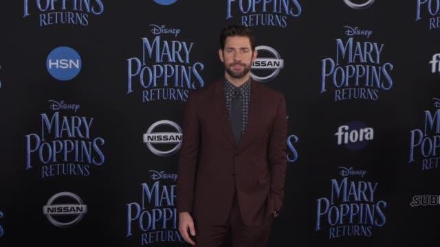 john krasinski at the disney's mary poppins returns world premiere at dolby theatre on november 29 2018 in hollywood california - john krasinski video stock e b–roll