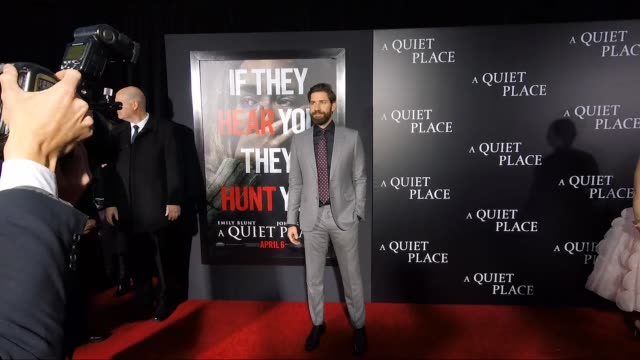 john krasinski at the new york premiere of a quiet place at amc lincoln square theater on april 02 2018 in new york city - john krasinski stock videos and b-roll footage
