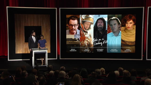 ANNOUNCEMENT John Krasinski Cheryl Boone Isaacs at the 88th Annual Academy Awards Nomination at the Academy Of Motion Picture Arts And Sciences on...