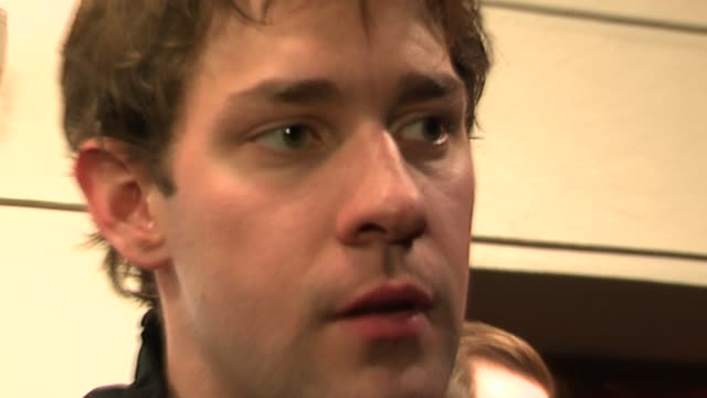 john krasinski discusses st jude's being a fan of the band and the concept of creating seperate videos for every song at the ampd mobile presents the... - john krasinski stock videos and b-roll footage