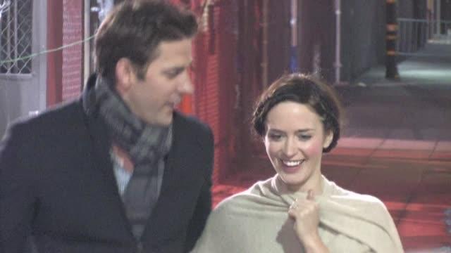 john krasinski emily blunt greet fans in hollywood 02/01/12 in celebrity sightings in los angeles - john krasinski video stock e b–roll