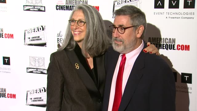 john landis deborah nadoolman at the the 25th annual american cinematheque award honoring robert downey jr at beverly hills ca - american cinematheque stock videos & royalty-free footage