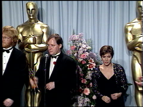 john lasseter at the 1989 academy awards at the shrine auditorium in los angeles, california on march 29, 1989. - 61st annual academy awards stock videos & royalty-free footage