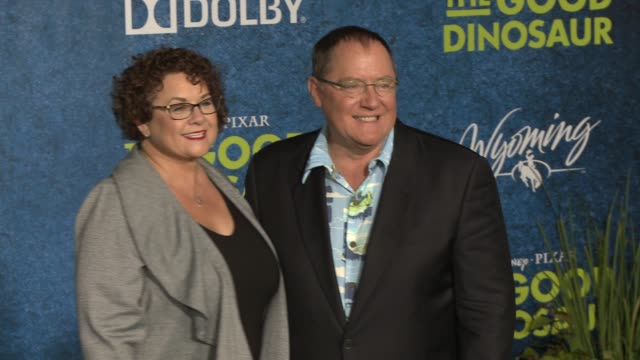 john lasseter at the good dinosaur world premiere at the el capitan theatre on november 17 2015 in hollywood california - el capitan theatre stock videos and b-roll footage
