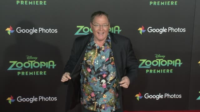 john lasseter at the zootopia los angeles premiere at the el capitan theatre on february 17 2016 in hollywood california - el capitan kino stock-videos und b-roll-filmmaterial