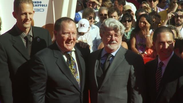 John Lasseter George Lucas at the John Lasseter Golden Lion Red Carpet Venice Film Festival 2009 at Venice