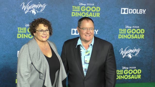 John Lasseter Nancy Lasseter at The Good Dinosaur Premiere at El Capitan Theatre in Hollywood on November 17 2015 in Los Angeles California
