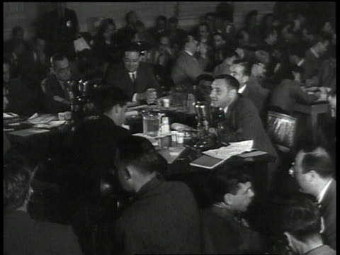 john lawson accusing committee of trying to take control of the motion picture and press industries stating that the bill of rights was created to... - house committee on unamerican activities stock videos & royalty-free footage