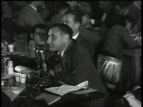 john lawson accusing committee of using communism as a mask for trying to take over the film industry and invading the rights of american citizens - house committee on unamerican activities stock videos & royalty-free footage