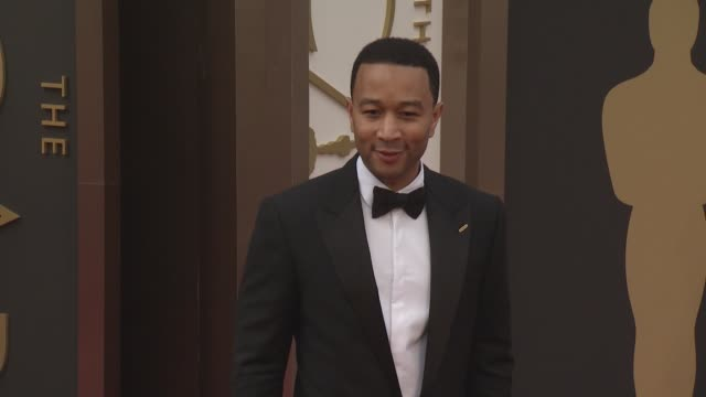 john legend and christine teigen - 86th annual academy awards - arrivals at hollywood & highland center on march 02, 2014 in hollywood, california. - hollywood and highland center stock videos & royalty-free footage