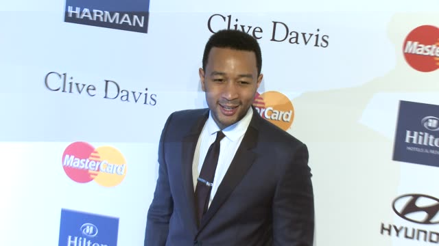 john legend at pre-grammy gala & salute to industry icons with clive davis honoring antonio l.a. reid 2/9/2013 in beverly hills, ca. - clive davis stock videos & royalty-free footage