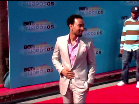 john legend at the 2005 bet awards arrivals at the kodak theatre in hollywood, california on june 28, 2005. - bet awards bildbanksvideor och videomaterial från bakom kulisserna