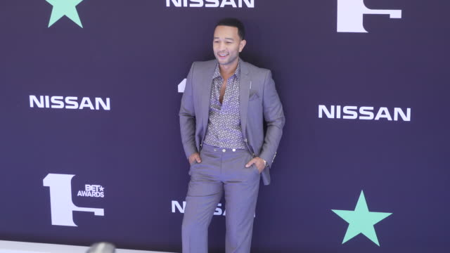 john legend at the 2019 bet awards at microsoft theater on june 23 2019 in los angeles california - bet awards stock-videos und b-roll-filmmaterial