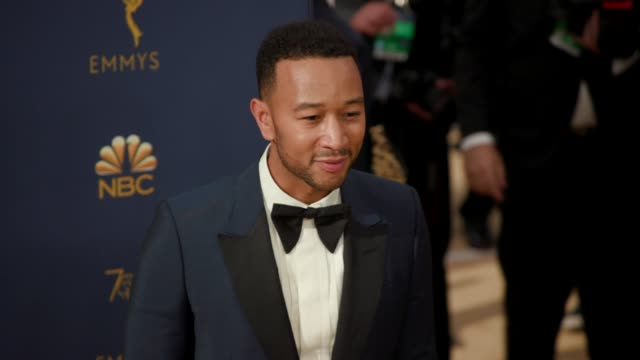 john legend at the 70th emmy awards arrivals at microsoft theater on september 17 2018 in los angeles california - emmy awards stock videos & royalty-free footage