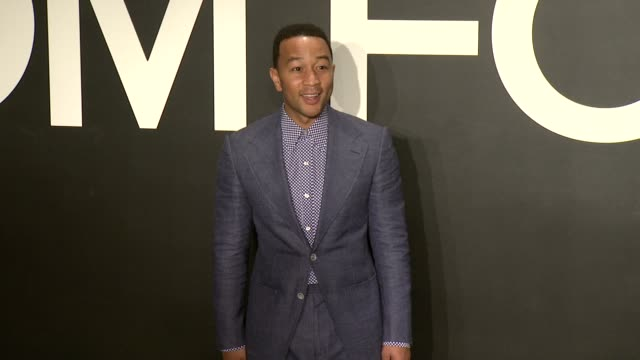 stockvideo's en b-roll-footage met john legend at tom ford presents his autumn/winter 2015 womenswear collection at milk studios on february 20 2015 in los angeles california - dameskleding