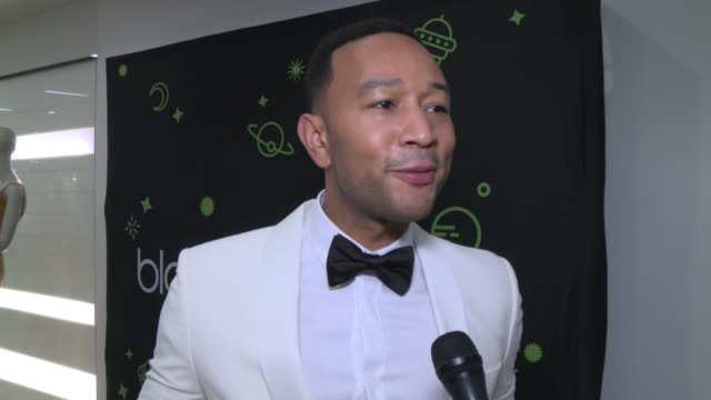 interview john legend on being excited to perform tonight on his favorite part of the holidays and his chrissy being a good cook at bloomingdale's... - bloomingdales stock videos & royalty-free footage