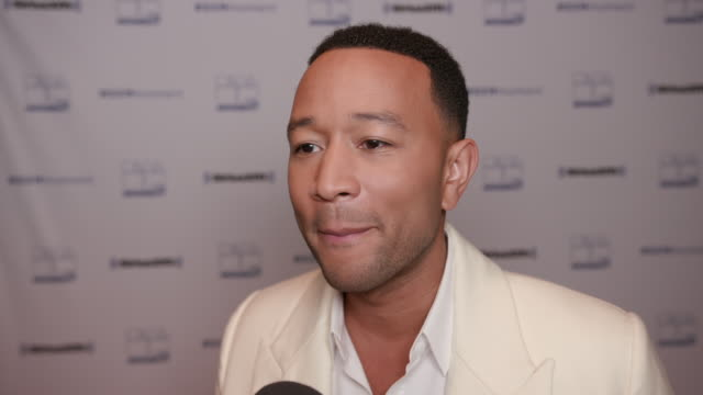 john legend on being here at the siriusxm event with john legend at union station on november 19, 2019 in los angeles, california. - interview raw footage stock videos & royalty-free footage