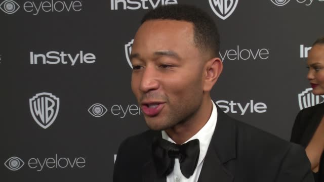 INTERVIEW John Legend on his team's win at 18th Annual InStyle And Warner Bros Pictures Golden Globes AfterParty at The Beverly Hilton Hotel on...