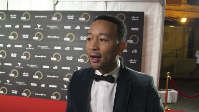 interview john legend on the importance of being a global citizen specific issues on ending poverty and who they're looking forward to seeing perform... - activity stock videos & royalty-free footage