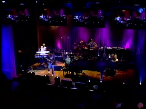 john legend performance clip at the american express jam sessions with kid rock epk at house of blues in los angeles, california on february 10, 2005. - kid rock stock videos & royalty-free footage