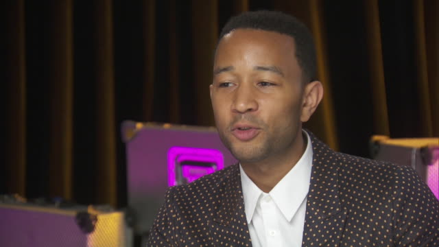 john legend says he is attracted to strong women while backstage at the chime for change concert for the benefit of women's rights around the world. - human rights or social issues or immigration or employment and labor or protest or riot or lgbtqi rights or women's rights stock videos & royalty-free footage