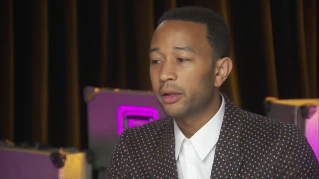 john legend talks about the various inequalities that still exist for women while backstage at the chime for change benefit concert for women's... - human rights or social issues or immigration or employment and labor or protest or riot or lgbtqi rights or women's rights stock videos & royalty-free footage