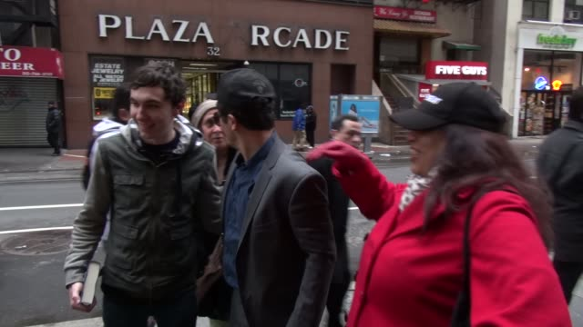 John Leguizamo poses with fans outside of the Today show in Rockefeller Center in Celebrity Sightings in New York