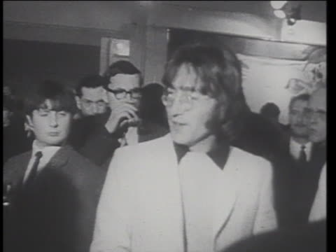 john lennon attends an art show among friends and photographers. - 1967 stock videos & royalty-free footage