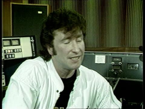 john lennon film cms gary gibson int intvw sof i've been singing roll singer ever - john lennon video stock e b–roll
