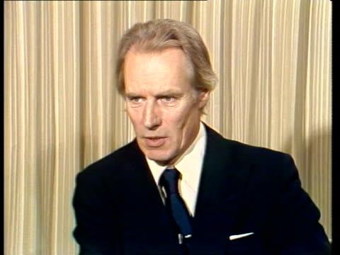 "george martin interview; england, london, itn george martin sof: ""he was seeking peace - like him again"" - john lennon stock videos & royalty-free footage"