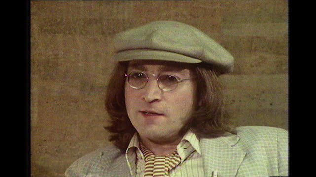 john lennon recalls his 'lost weekend' when he was kicked out of the troubadour nightclub in 1974 with harry nilsson after drinking too many brandy... - adults only videos stock videos & royalty-free footage