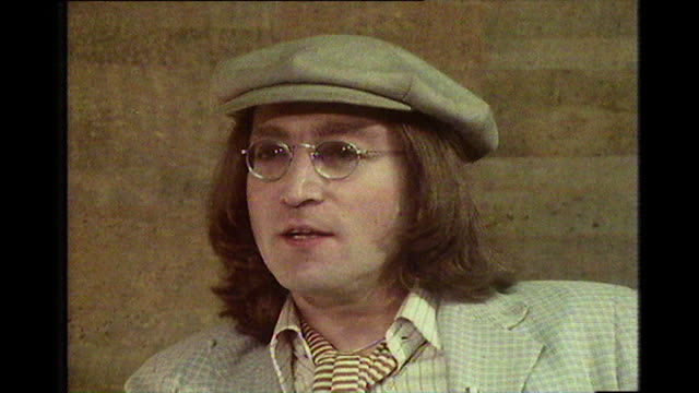 john lennon recalls the events behind his ejection from the troubadour nightclub and the accusation of assault by a woman - 1975 stock videos & royalty-free footage