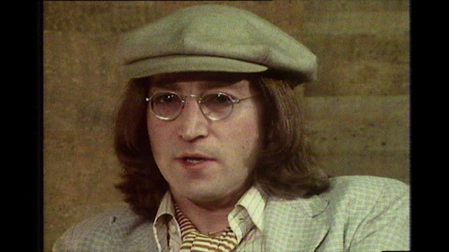 john lennon, speaking in 1975, about the difficulties he, and other musicians, had when trying to enter the usa and why he wants a green card. - beatnik stock videos & royalty-free footage