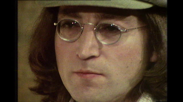 john lennon, speaking in 1975, on the culture and pace of life in los angeles. - beatnik stock videos & royalty-free footage