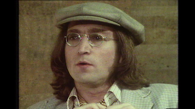 john lennon speaking in 1975 on the tensions in parts of new york city and how it compares to london and other uk cities like liverpool glasgow and... - entscheidung stock-videos und b-roll-filmmaterial