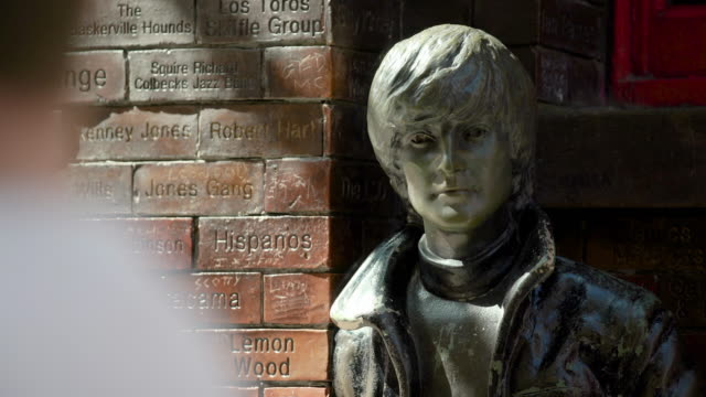 john lennon statue, liverpool - liverpool england stock videos & royalty-free footage