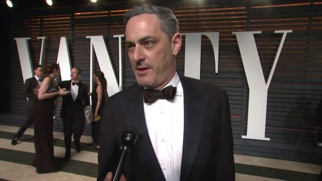 interview john lesher at the 2015 vanity fair oscar party hosted by graydon carter at the wallis annenberg center for the performing arts on february... - wallis annenberg center for the performing arts stock videos and b-roll footage