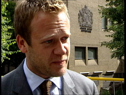 john leslie cleared of sexual assault charges itn jason mccue interviewed sot john maintained his innocence throughout he's vindicated today i hope... - jason mccue stock videos and b-roll footage