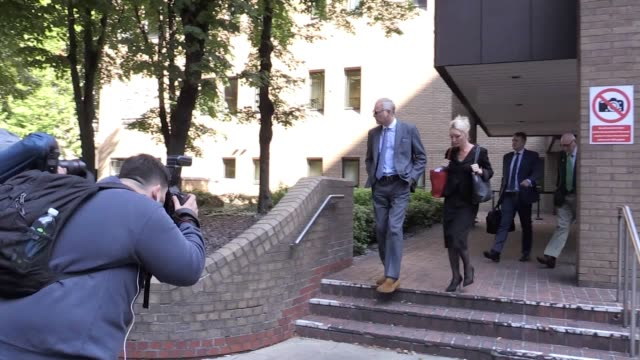 john leslie leaves southwark crown court after pleading not guilty to sexual assault. leslie, from edinburgh, appeared at southwark crown court on... - john fortune stock videos & royalty-free footage