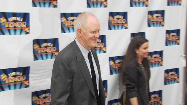john lithgow at the opening of 'lend me a tenor' arrivals at new york ny - lend me a tenor stock-videos und b-roll-filmmaterial