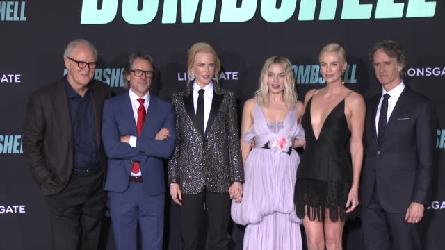 john lithgow charles randolph nicole kidman margot robbie charlize theron and jay roach at bombshell special screening on december 10 2019 in los... - nicole kidman stock videos & royalty-free footage