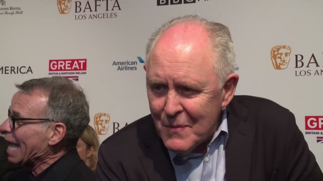 interview john lithgow on what he enjoys the bafta awards season tea party on his role as winston churchill on why he thinks people are responding to... - tea party stock videos and b-roll footage
