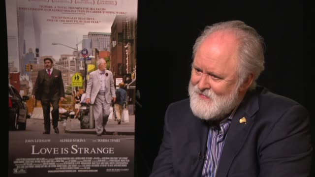 interview john lithgow on what kind of kisser alfred molina is at 'love is strange' los angeles press day at four seasons hotel los angeles at... - alfred molina stock videos & royalty-free footage