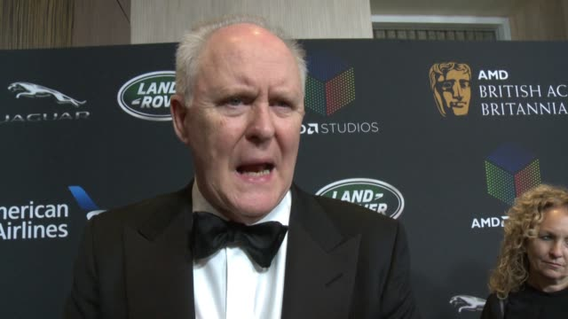 INTERVIEW John Lithgow on why he wanted to attend the Britannia Awards and why Claire Foy is so deserving of the Britannia Award for British Artist...